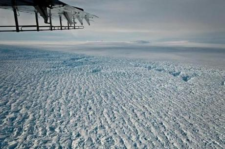 Crevasses near the grounding line of Pine Island Glacier, Antarctica. MUST CREDIT: Credit I. Joughin, University of Washington