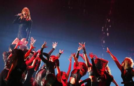 FOXBORO, MA - 07/26/2018 Taylor Swift performs the the first night of three for the Reputation Stadium Tour at Gillette Stadium. NO RESALES NO GETTY Erin Clark for the Boston Globe