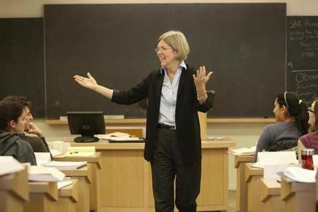 Warren at Harvard Law in 2009.
