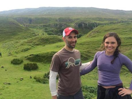 "One-time use only for magazine story. Petebog NEW YORK TIMES THANK YOU LETTER PIC - ""Laura and Peter, hiking the Scottish Highlands in 2015."" PHOTO COURTESY OF PETER DEMARCO"