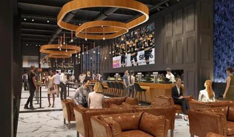 "An expanded ""1928 Club"" on the 5th and 6th Floor of the TD Garden is part of a 50,000 square-foot expansion of the arena."