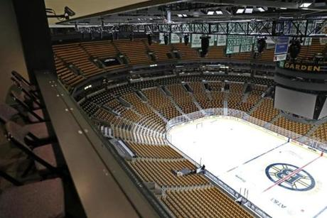 BOSTON, MA - 11/08/2018:Seating and low wall will be removed for expanded drop seating half way around the garden. Delaware North to announce significant expansion of the TD Garden. (David L Ryan/Globe Staff ) SECTION: BUSINESS TOPIC 09garden