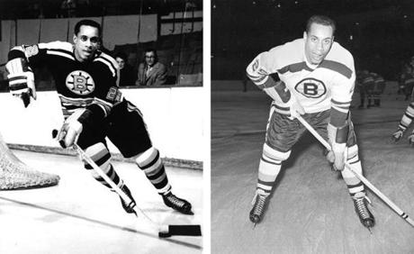 Willie O'Ree played in 45 games for the Bruins, netting four goals and notching 10 assists. Two of his goals were game winners.