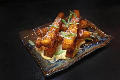 Chickpea fries are among the menu items offered at Balani in Waltham.