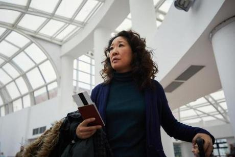 "Sandra Oh in BBC America's ""Killing Eve."""