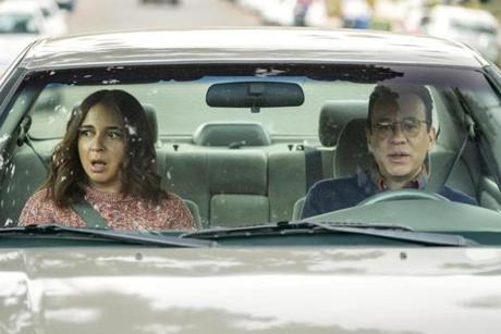 "Maya Rudolph and Fred Armisen in Amazon's ""Forever."""