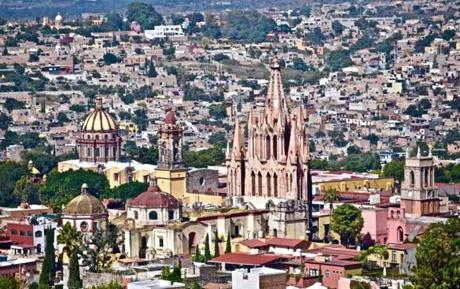 SAN MIGUEL de ALLENDE, Mexico, Nov. 16 -- The climb to get this view nearly gave me a heart attack, but it was an effective means for working off enchiladas and gave me a beautiful perspective in the city.