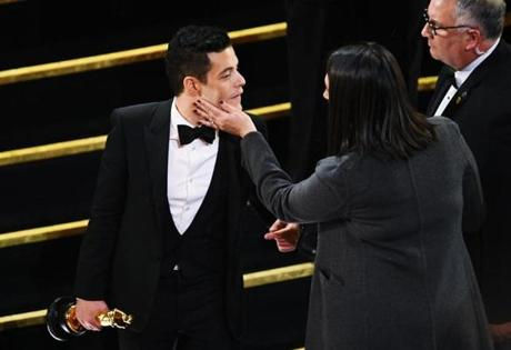 HOLLYWOOD, CALIFORNIA - FEBRUARY 24: Rami Malek, winner of the Actor in a Leading Role award for 'Bohemian Rhapsody,' attends the 91st Annual Academy Awards at Dolby Theatre on February 24, 2019 in Hollywood, California. (Photo by Kevin Winter/Getty Images)