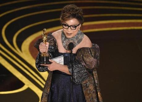 Ruth E. Carter accepts the award for best costume design for