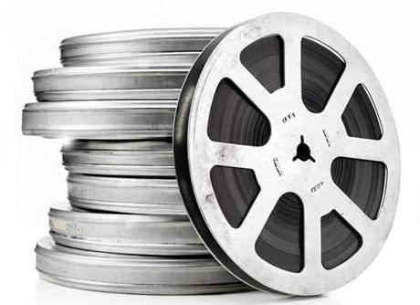 vintage film reels isolated