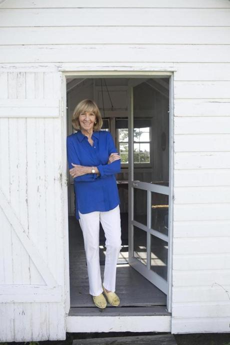 After writing the bestseller that made the world fear sharks, Jaws author Peter Benchley became a leading shark conservationist, as did his wife, Wendy. Here she is in the chicken coop where her late husband edited his manuscript.