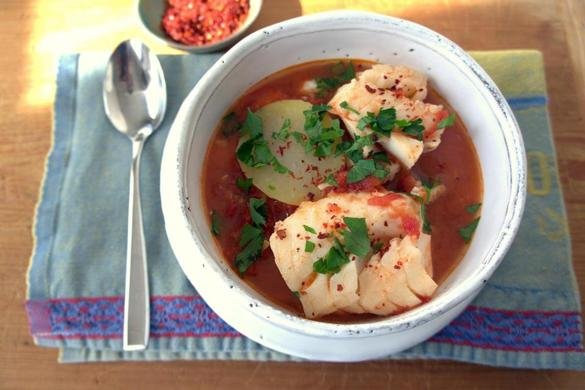 Recipe for quick fish stew with tomatoes ginger and for Fish stew with potatoes