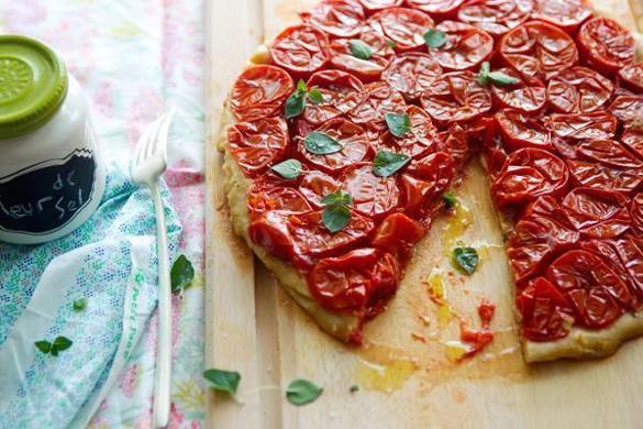 Recipe for tomato tarte Tatin - The Boston Globe