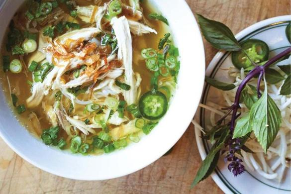 Recipe for Pho Ga (Vietnamese chicken noodle soup) - The Boston Globe