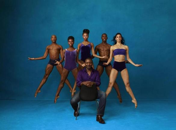 Alvin Ailey American Dance Theater artistic director Robert Battle (front) with (from left) Antonio Douthit-Boyd, Rachael McLaren, Jacqueline Green, Jamar Roberts, and Alicia Graf Mack.