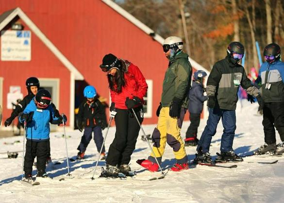 The Blue Hills ski area has downhill and cross-country trails over about 7,000 acres. Snow-making, however, is limited to downhill slopes.