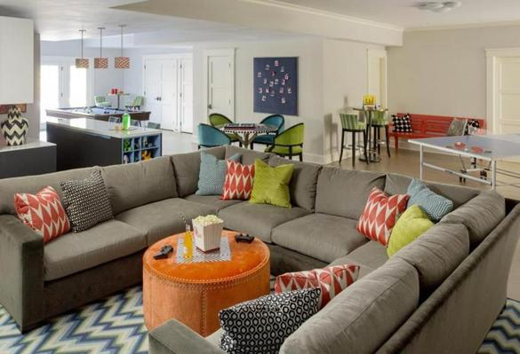 Best Of The Week 9 Instagrammable Living Rooms: Weston Basement Renovation Is Teen Friendly