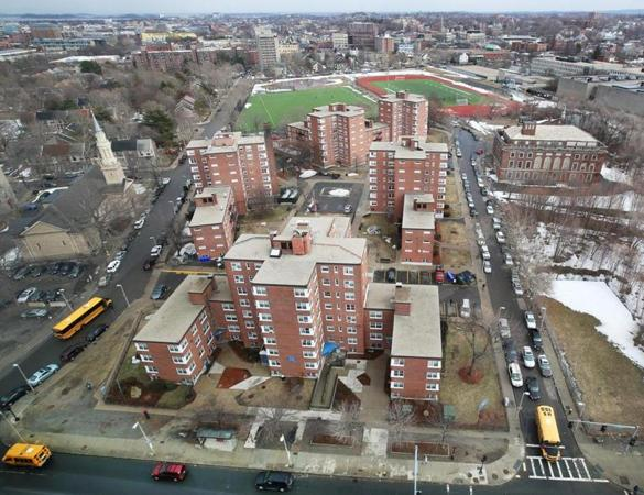 Roxbury's  Whittier Street Apartments and adjoining areas would be the site of 462 new housing units south of the Ruggles MBTA station.