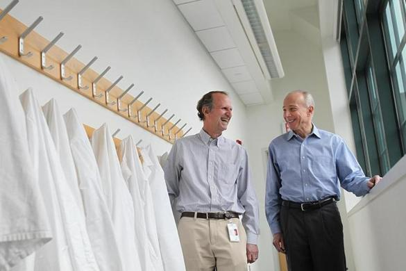 Mark C. Fishman (right) and Glenn Dranoff (left) are leading the Novartis cancer immunotherapy push.