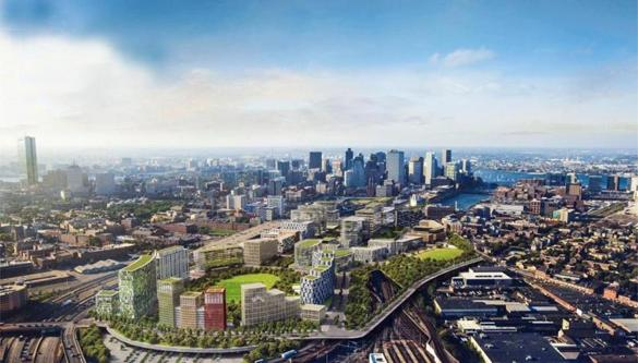 Organizers envisioned Widett Circle in Boston being redeveloped as a new neighborhood after the Games ended, similar to what's pictured in the rendering above. The area was being pushed as a site for the Olympic  stadium.