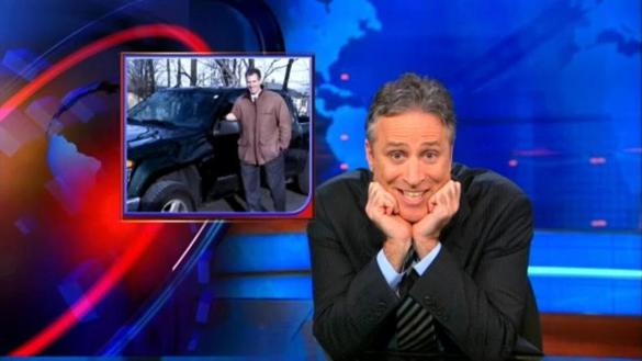 Jon Stewart, shown lampooning senator-elect Scott Brown in 2010, has made the appropriation of political and media clips a way of life.