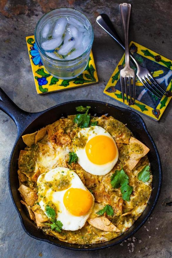 with tomatillo salsa chilaquiles with tomatillo salsa and eggs sharing ...
