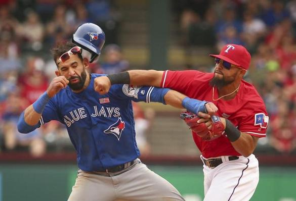 Fistfight between players erupts at Blue Jays-Rangers game - The Boston Globe