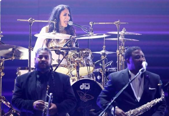 Sheila E paid tribute to Prince at Sunday's BET Awards.