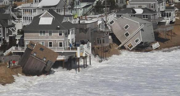 PLUM ISLAND, MA. 03/ 09 /13: Aerial views of COAST DAMAGE from the storm along the waterfront in Plum Island ( David L Ryan/Globe Staff Photo ) SECTION: METRO TOPIC