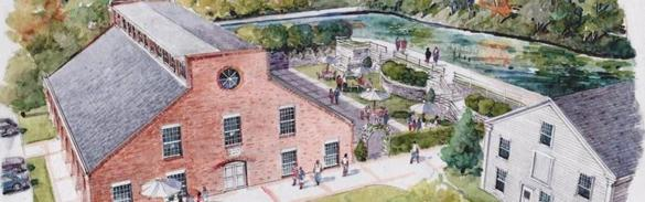 xxsorevere - This rendering shows what Paul Revere Heritage Site planners hope the old copper rolling mill and surrounding area will look like when it has been fully restored and construction at the site is complete. The town is working with a consultant to explore what is feasible at the site, and are envisioning a restaurant and a museum. (Canton Holdings LLC)