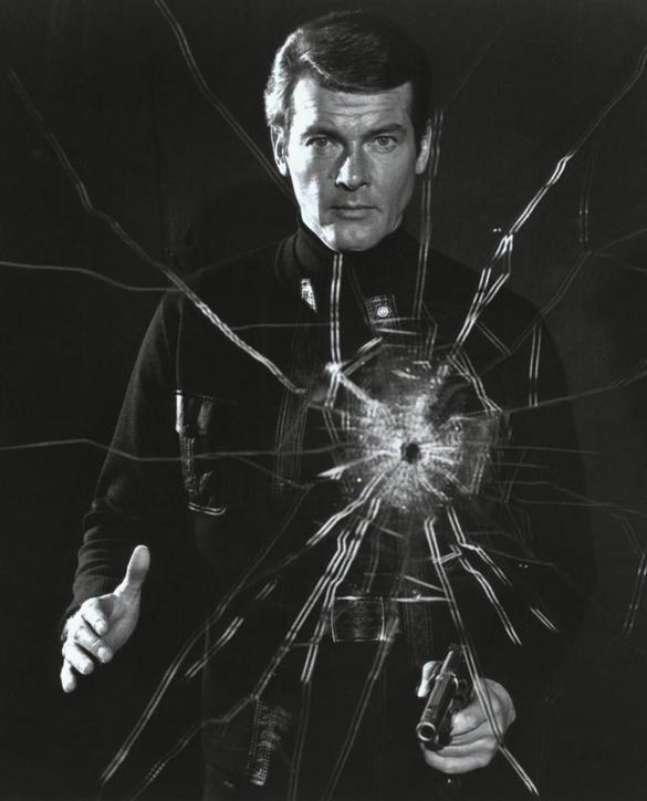 MOVIES: ROGER MOORE as James Bond in the 1973 film