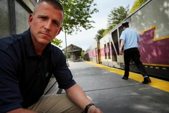 Lakeville , MA- May 23, 2017: Allin Frawley, chairman of the Middleborough Board of Selectmen poses for a portrait at the Middleborough/Lakeville commuter rail station in Lakeville, MA on May 23, 2017. (Despite some early fears this year, the South Coast Rail is not dead and instead may be taking a different route to the New Bedford-Fall River area. ) (Globe staff photo / Craig F. Walker) section: regional reporter: