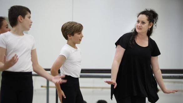 10/29/2017 - Boston, MA - Boston Ballet - Miranda Weese, cq, formerly a principal dancer with NYC Ballet, leads a rehearsal for the Nut Cracker at the Boston Ballet on Sunday, October 29, 2017. Weese was recently announced as the new master of Boston Children's Ballet.