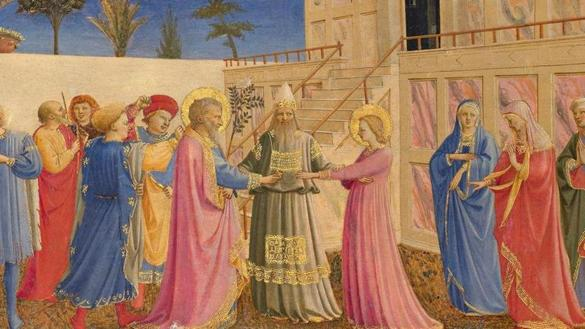 "Fra Angelico's ""The Marriage of the Virgin"" will be on display at the Gardner Museum exhibition"