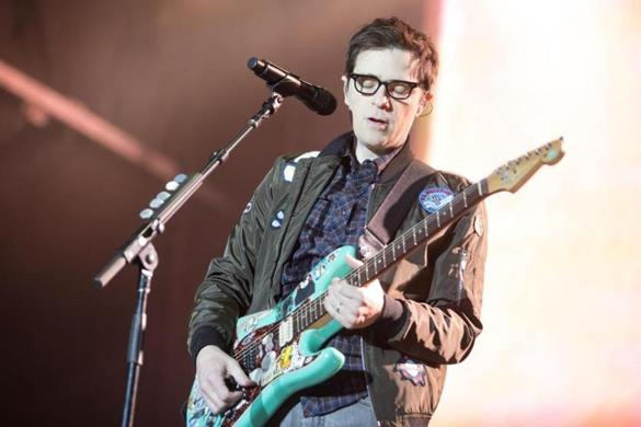 Boston, MA - 5/28/2017 - Rivers Cuomo performs with Weezer at the Boston Calling Music Festival at the Harvard Athletic Complex in Boston on May 28, 2017. (Ben Stas for The Boston Globe)