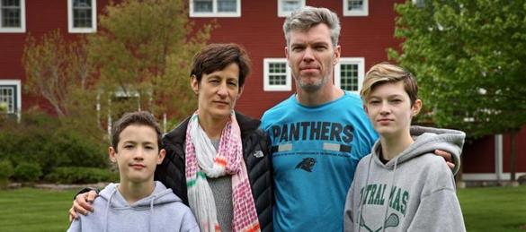 Alysia and Dean Valoras with their children, Nicholas and Emily, at their home in North Grafton.