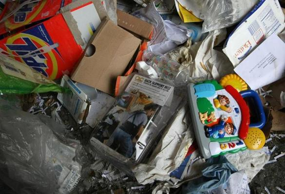 SAN FRANCISCO - APRIL 22: A child's toy and plastic packaging are seen in a pile of recyclables at the San Francisco Recycling Center April 22, 2008 in San Francisco, California. To Coincide with Earth Day, San Francisco recycling companies, Sunset Scavenger Co. and Golden Gate Disposal & Recycling Co., have started accepting rigid plastics as part of their curbside recycling program. Customers will now be able to recycle rigid plastics such as plastic toys, paint buckets, clamshell containers and plant containers which in the past could not be properly processed. The San Francisco recycling center processes approximately 750 tons of recyclables a day. (Photo by Justin Sullivan/Getty Images)