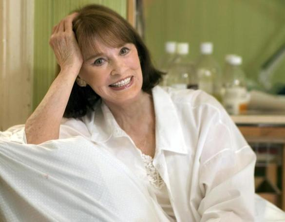 Gloria Vanderbilt in her studio in New York in May 2009.