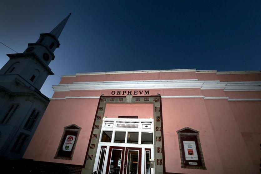 An exterior view of the Orpheum Theatre.
