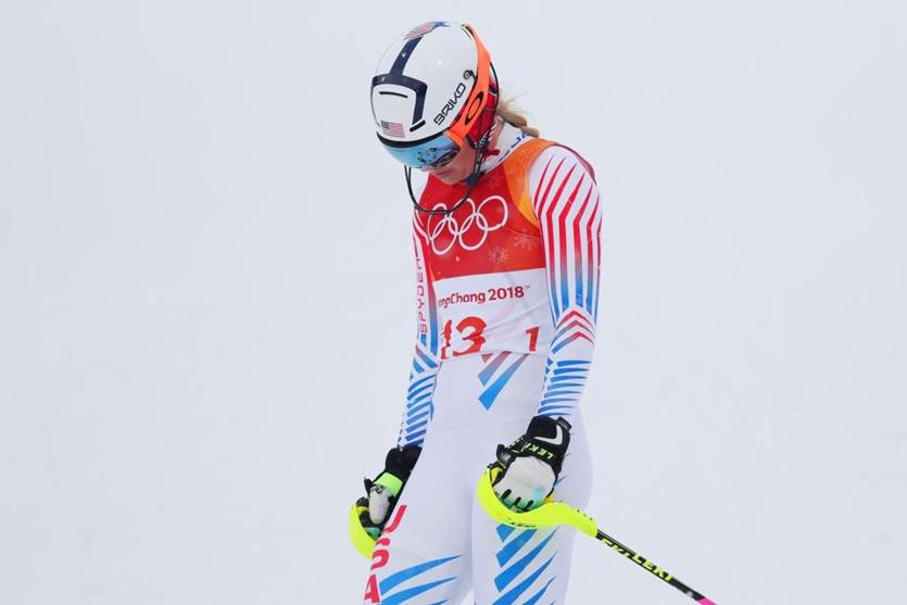 There was no hiding Lindsey Vonn's dejection after she was disqualified from her gold medal run at the Apline combined after missing a gate on her slalom run.