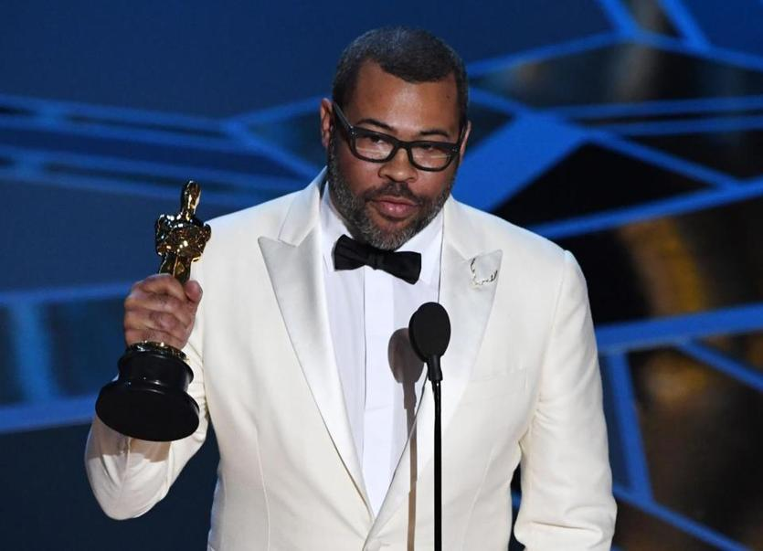 "Director Jordan Peele delivered a speech after he won the Oscar for Best Original Screenplay for ""Get Out."""