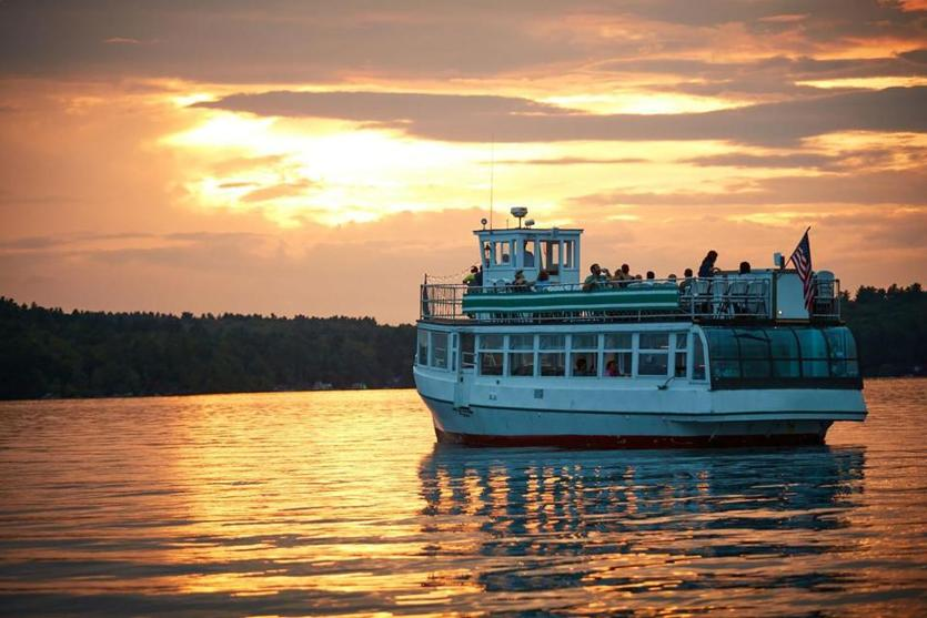 Narrated boat tours are popular on Lake Sunapee.