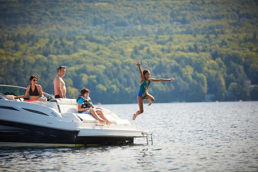 Lake Sunapee is the perfect spot for boating and swimming.