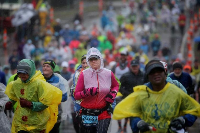 Boston Marathon adjusts for inclement weather