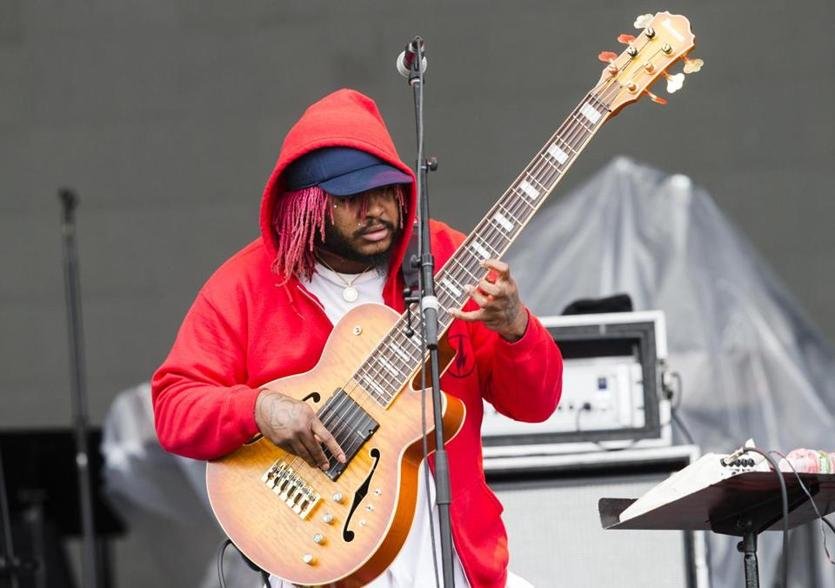 Boston, MA - 5/27/2018 - Singer Thundercat performs at the Boston Calling music festival in Boston, MA, May 27, 2018. (Keith Bedford/Globe Staff)