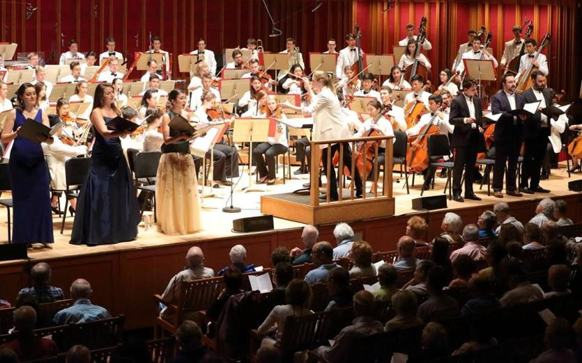 "Gemma New directed the Tanglewood Music Center Orchestra and Vocal Fellows in the world premiere of Michael Gandolfi's ""In America"" Monday night at Seiji Ozawa Hall."