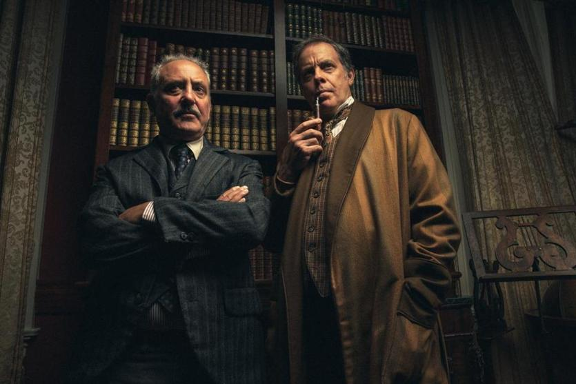 "Mark Zeisler and Rufus Collins in the Huntington Theatre Company's production of ""Sherlock's Last Case."""