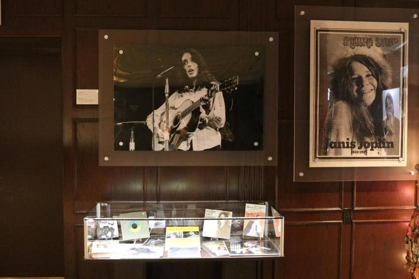 Photos, posters, albums, and other music memorabilia from the David Bieber Archives are on display at The Music Hall in the Boch Center's Wang Theatre.