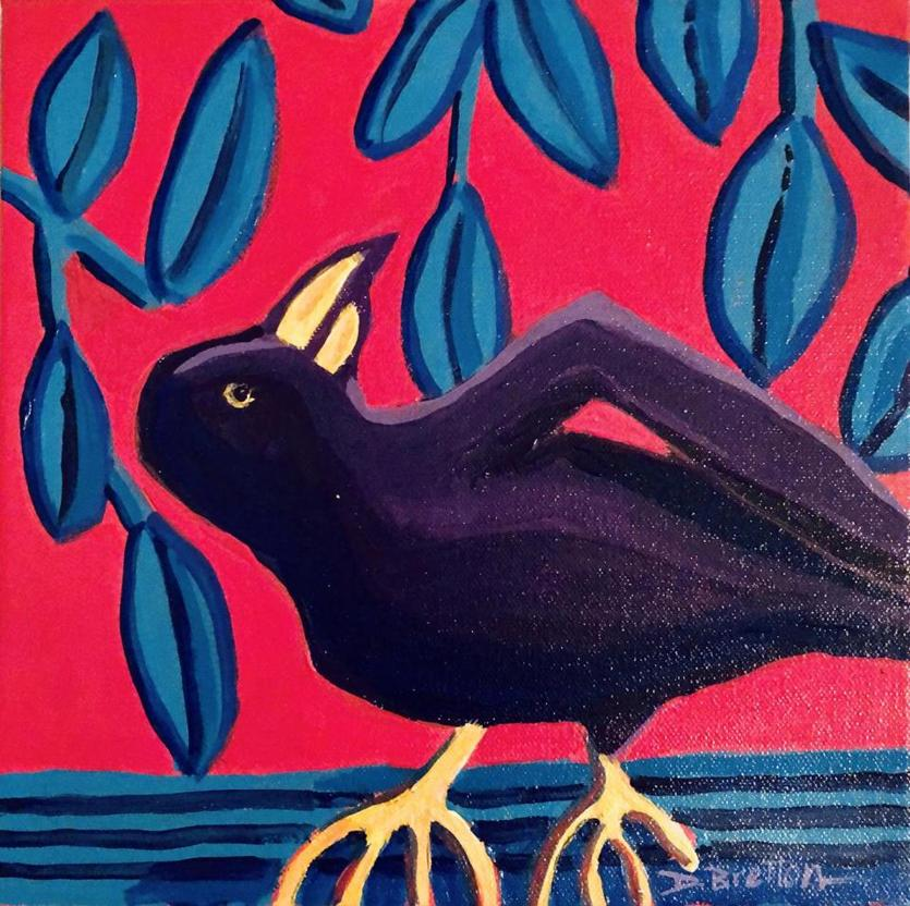 "20zocrows -- Debra Bretton Robinson's painting will be featured on ""Mystery of the Night Sky."" (Bethmann.)"