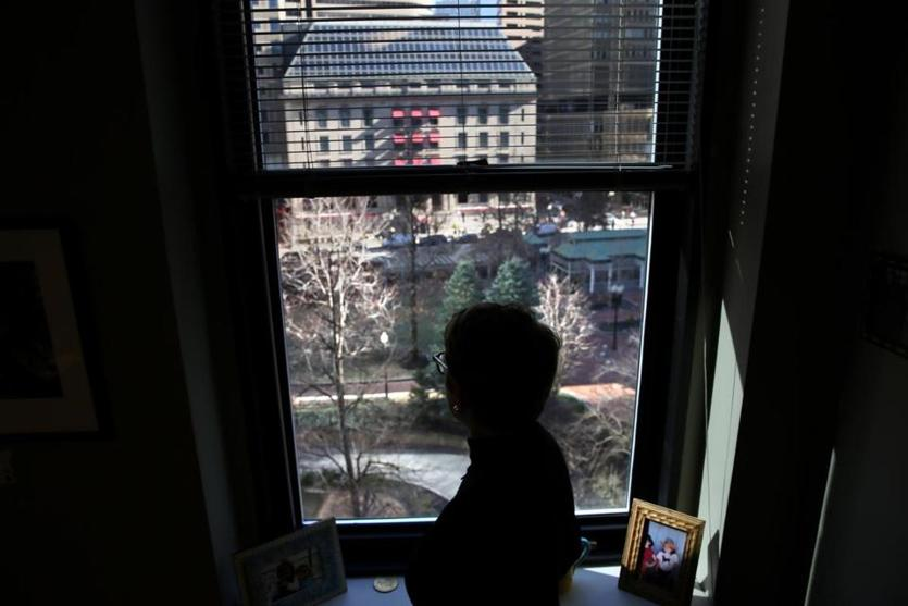Messenger watched the park from her office.